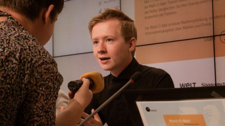 Matti Karstedt: Wahl-O-Mat in Potsdam vorgestellt